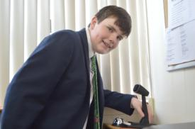 Lower School's Connor Breen '21 makes some moves as 'Principal-for-a