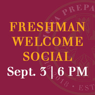 RSVP by Aug. 27 for our Freshman Welcome Social in the spotlight